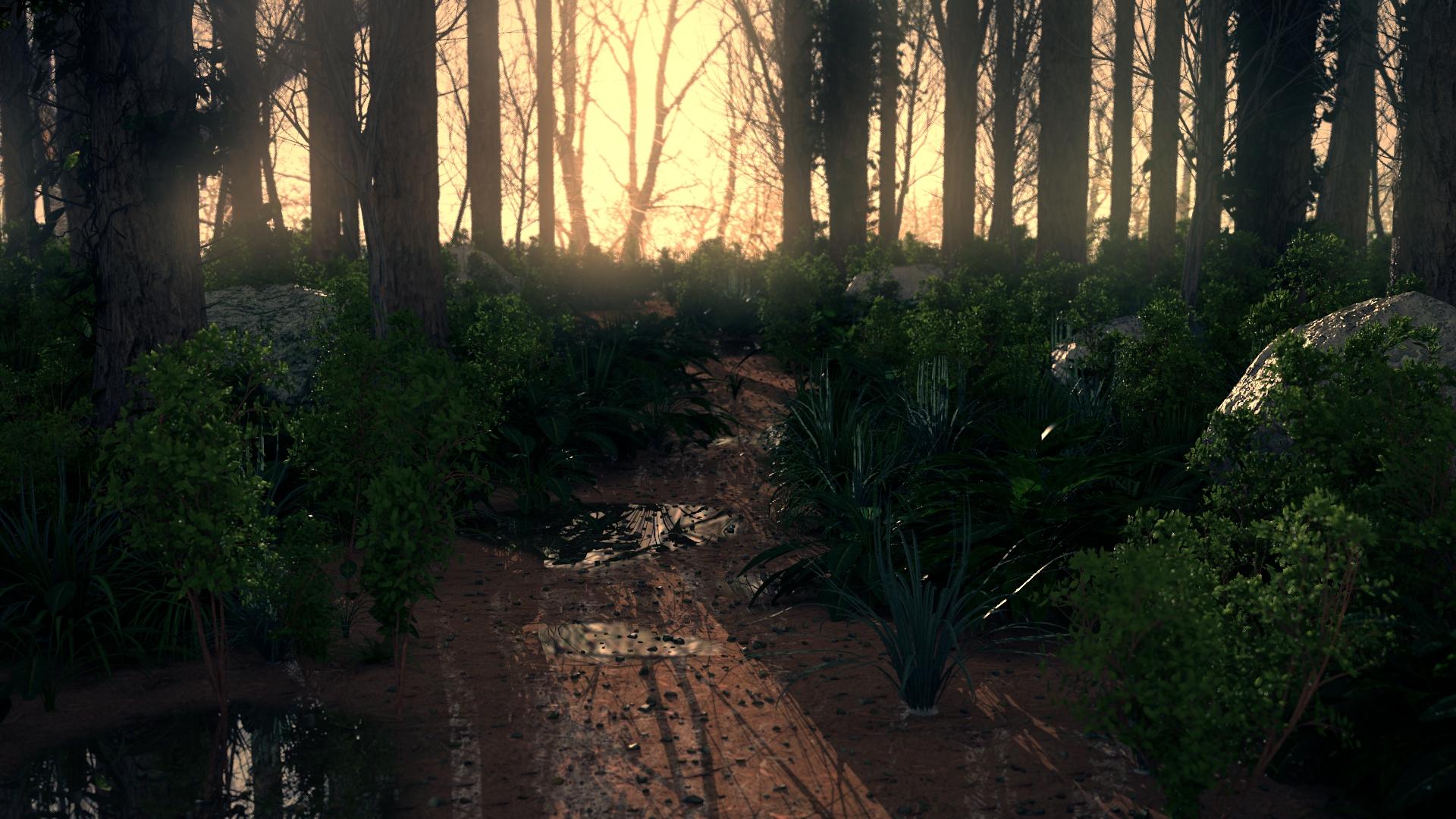 Realistic 3d Forest Scene By Blendiv On Deviantart