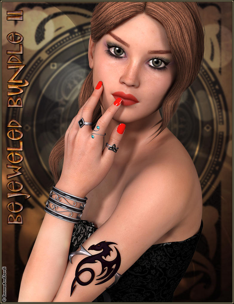 Bejeweled Bundle 2: Arm Cuffs, Bangles, Rings and by emmaalvarez