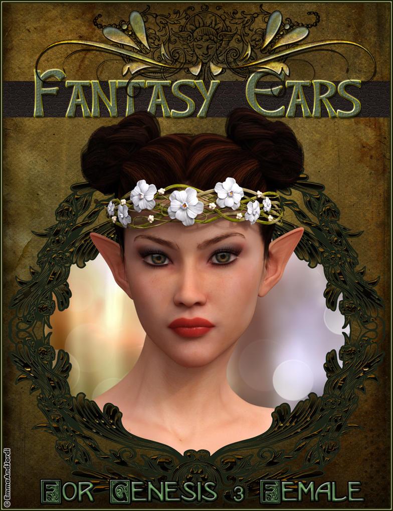 EJ Fantasy Ears For Genesis 3 Females by emmaalvarez