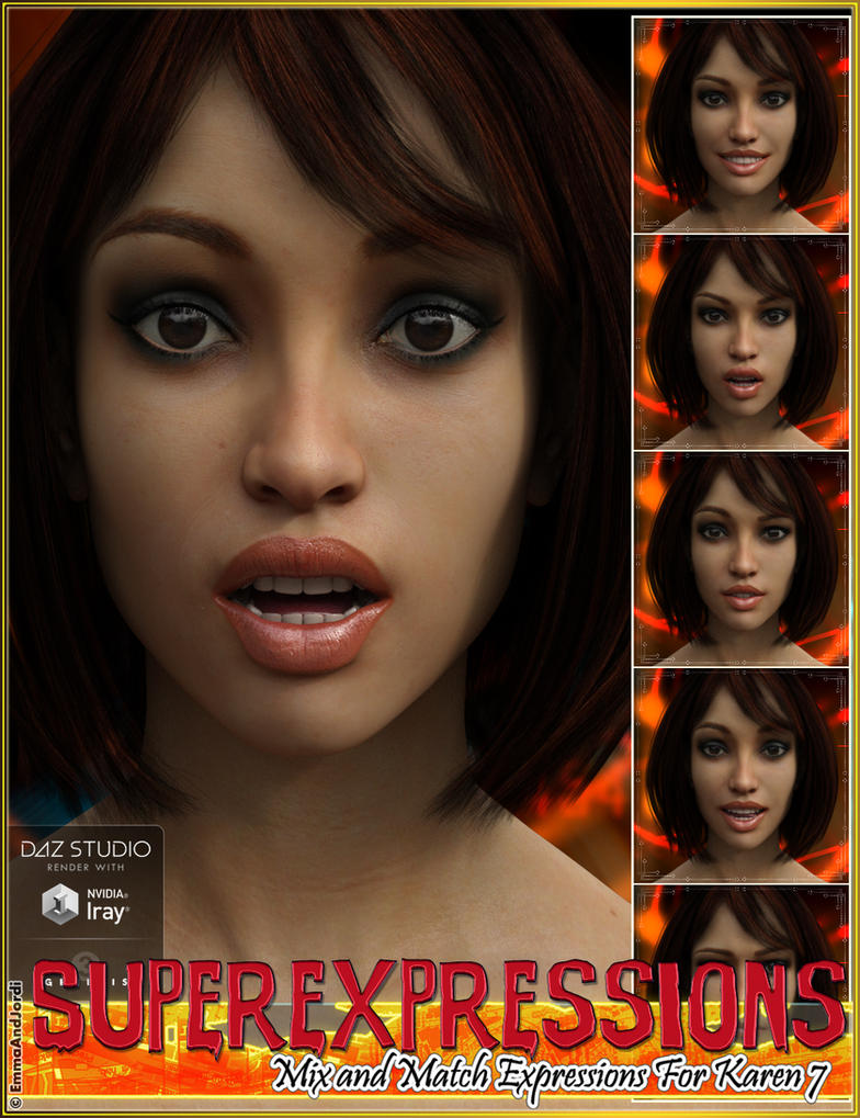 Superexpressions Mix-Match Expressions for Karen7 by emmaalvarez