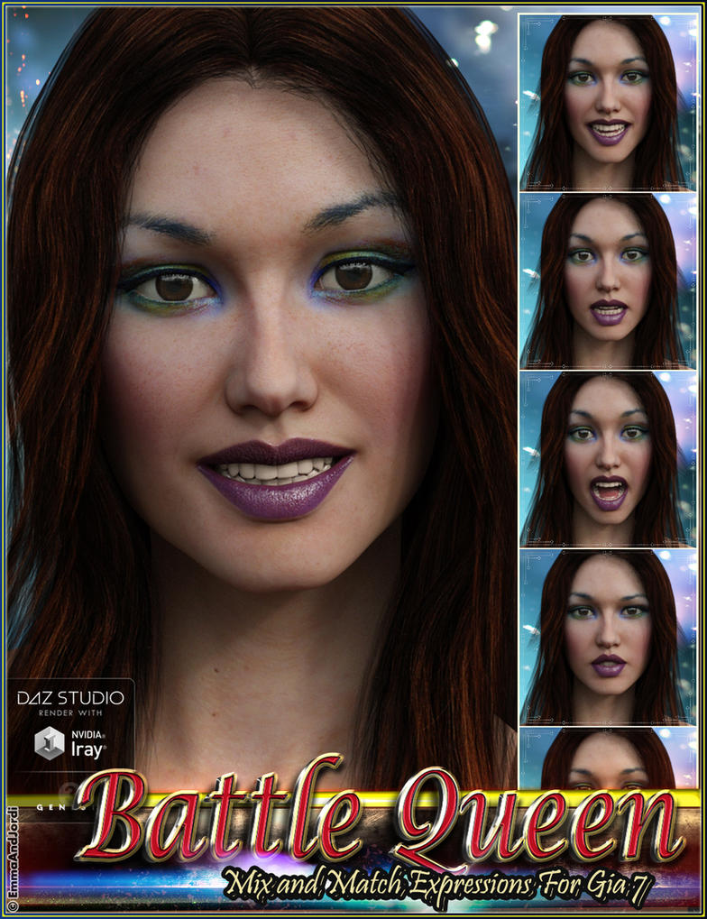 Battle Queen Mix and Match Expressions for Gia 7 by emmaalvarez