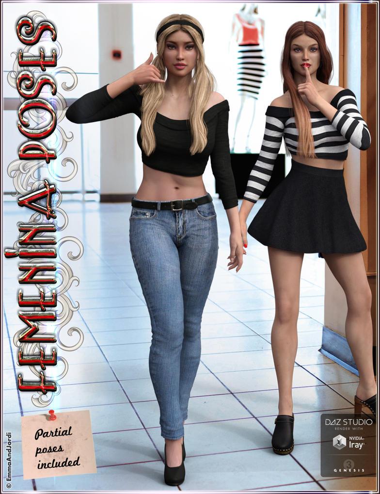 Femenina Mix and Match Poses for Genesis 3 Females by emmaalvarez