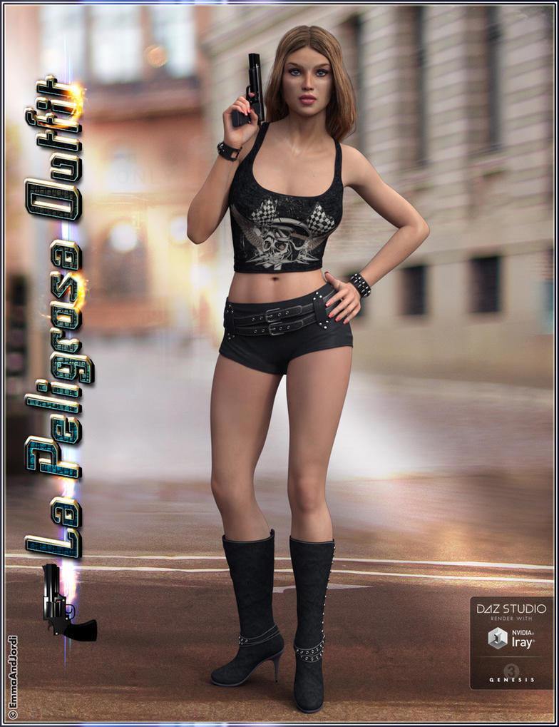 La Peligrosa Outfit and Accessories for Genesis 3 by emmaalvarez
