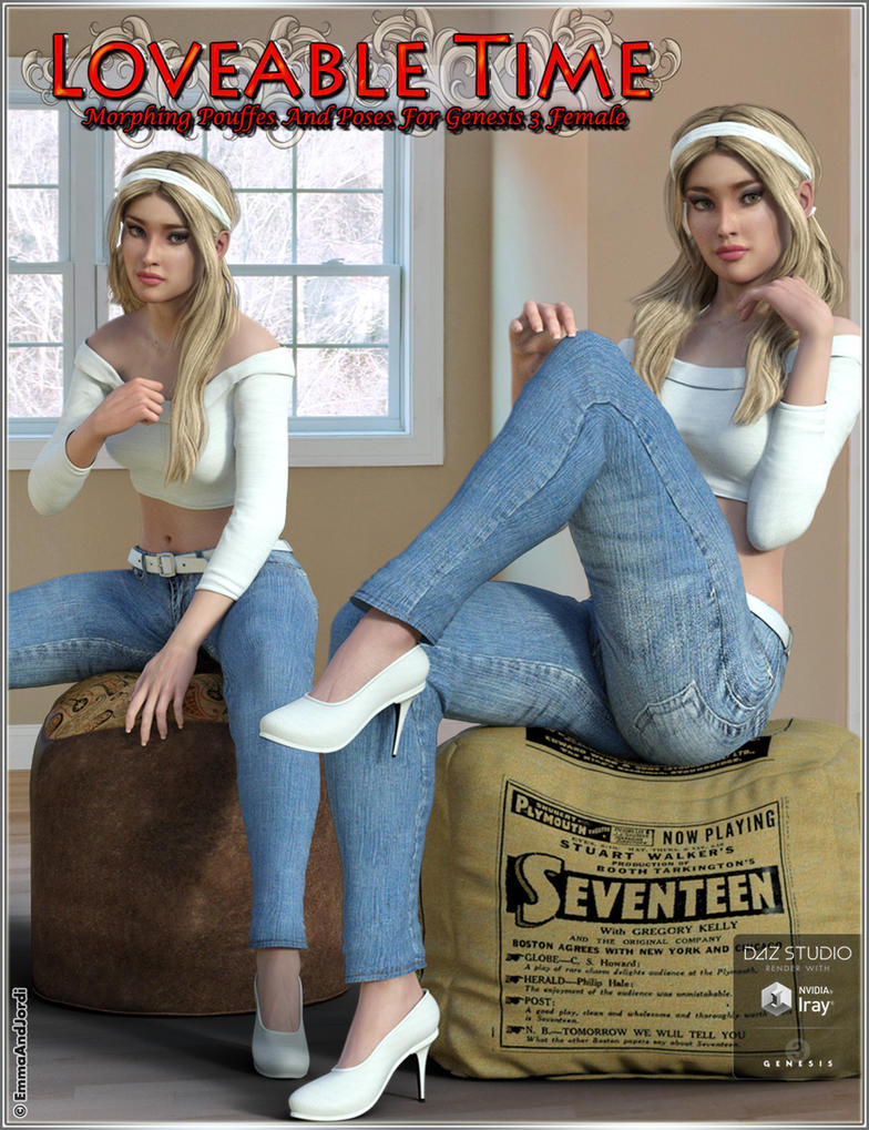 Loveable Time: Morphing Pouffes and Poses by emmaalvarez