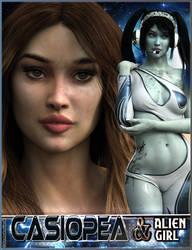 EJ Casiopea and Alien Girl for Genesis 3 Female by emmaalvarez
