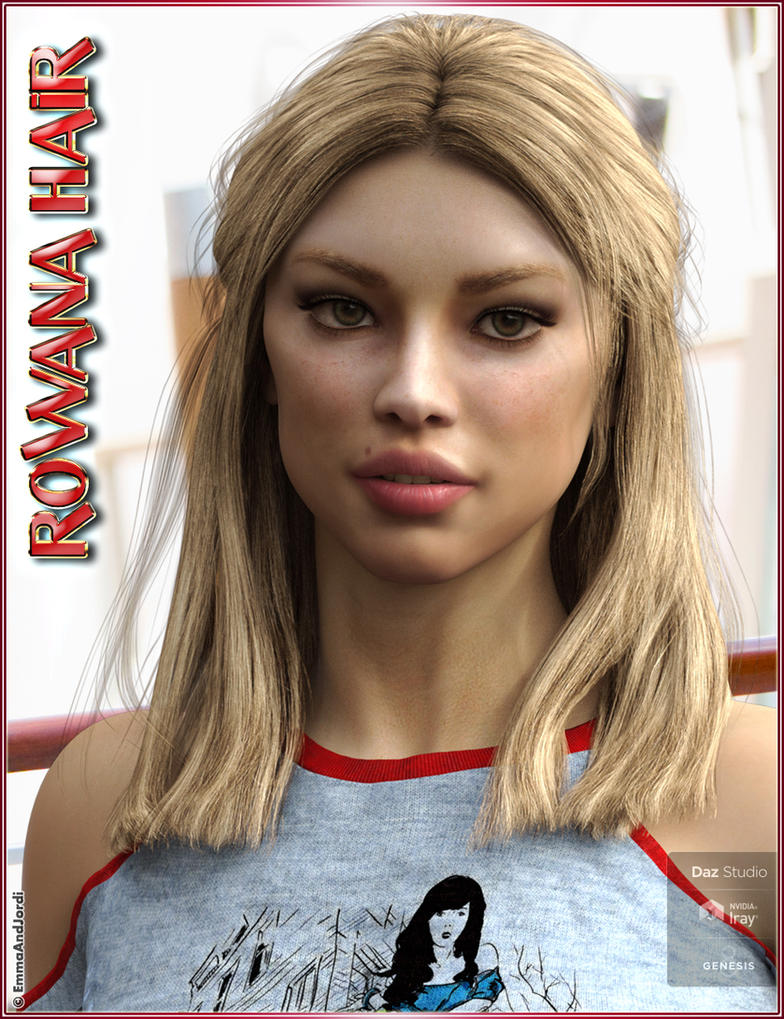 Rowana Hair For Genesis 8 Female(s) by emmaalvarez