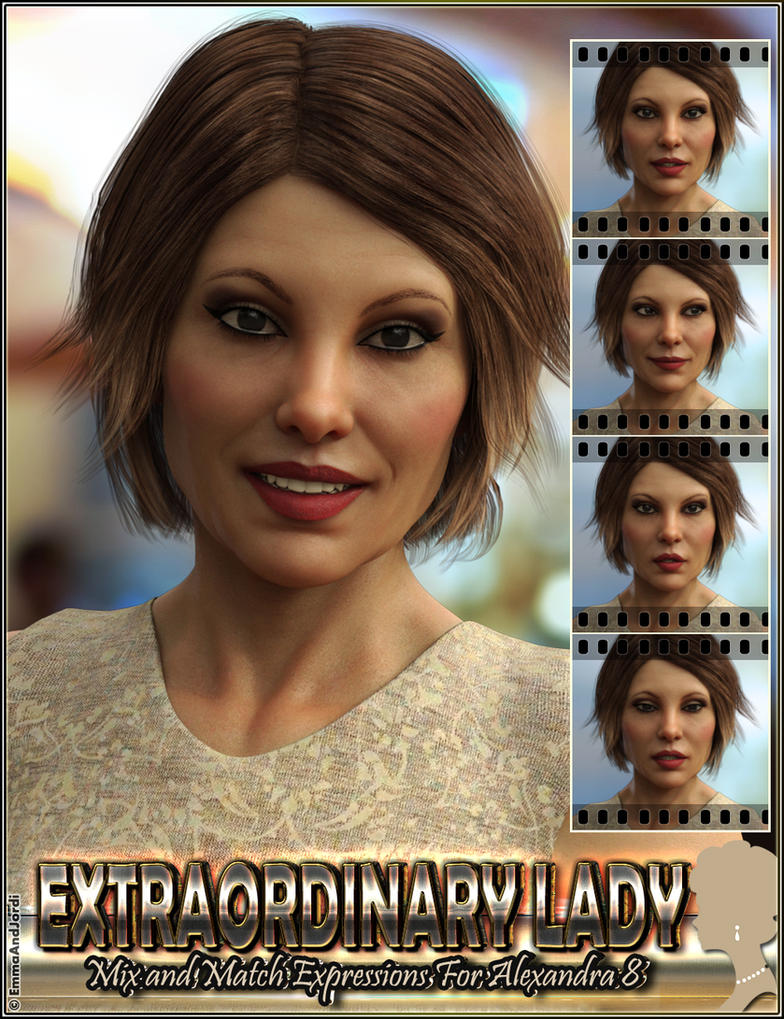 Extraordinary Lady Expressions for Alexandra8 G8F by emmaalvarez