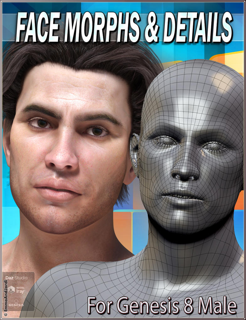 EJ Face Morphs and Details for Genesis 8 Male by emmaalvarez