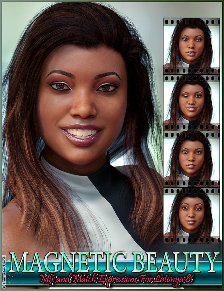 Magnetic Beauty MixNMatch Expressions for Latonia8 by emmaalvarez