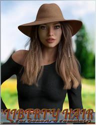 Liberty Hair For Genesis 8 Females by emmaalvarez