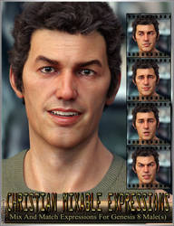 Christian Mixable Expressions for Genesis 8 Male by emmaalvarez