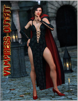 dForce Vampiress Outfit and Poses For Genesis 8 F