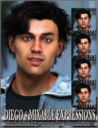 Mixable Expressions for Diego 8 and Genesis 8 Male