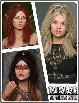 Talisa Hair for Genesis 8 Females