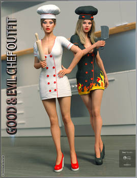 Good and Evil Chef Outfit And Poses For Genesis 8