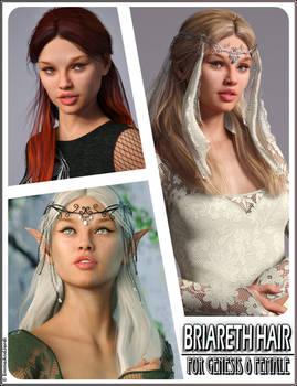 Briareth Hair for Genesis 8 Females