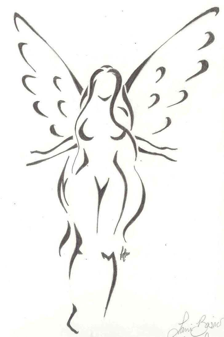 angel contour by lanikitty on deviantart