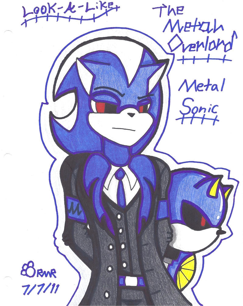 The Metal Overlord, Metal Sonic by ShyDeathKitty