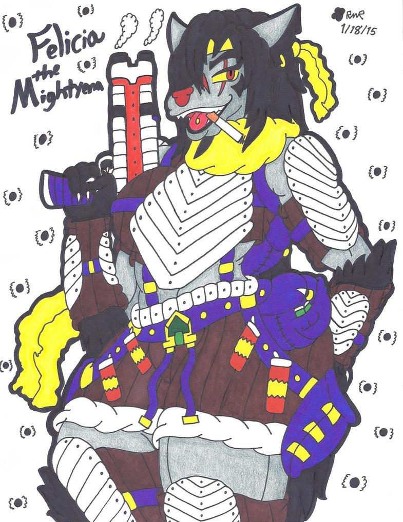 Felicia The Mightyena by ShyDeathKitty