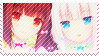 Chocola and Vanilla Stamp by Carazami