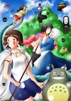 Tribute to Hayao Miyazaki by Ailish-Lollipop