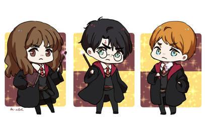 Harry Potter Chibis by Ailish-Lollipop
