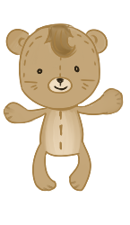 Brown Bear front view by Moroboshist
