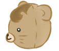 Brown Bear left profile by Moroboshist