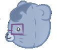 Nerdy Bear left profile by Moroboshist