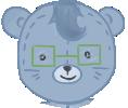 Nerdy Bear front HUD display by Moroboshist