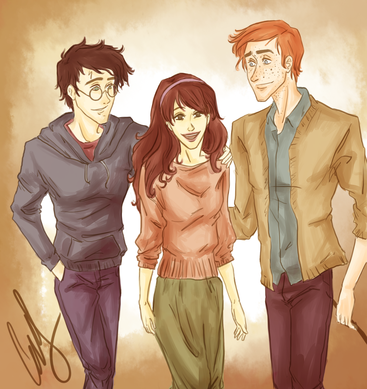 You guys are my best friends by AniPokie on DeviantArt