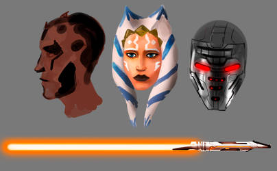 Random Star Wars Sketches by FotusKnight
