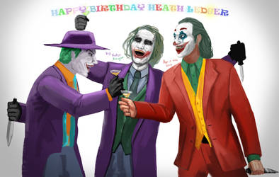 Jokers - Happy Birthday, Heath Ledger by FotusKnight