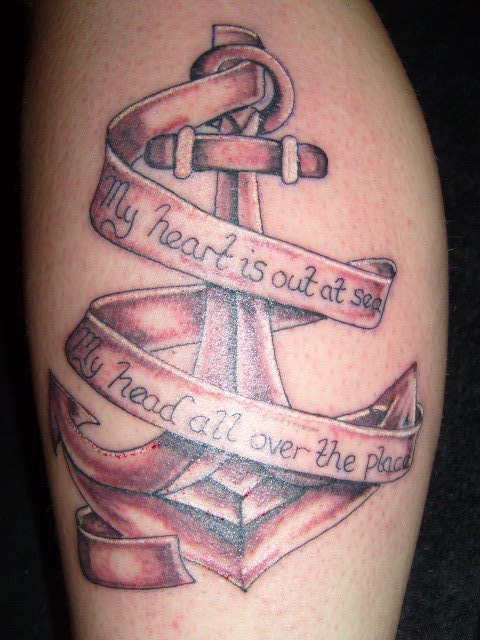 Anchor And Text By Inkwell Tattoos On Deviantart
