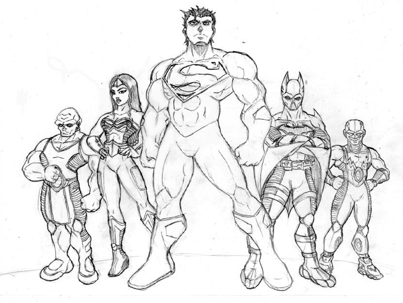 coloring pages and justice league - photo#27