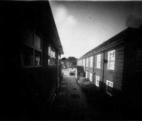 Pinhole Photography : Walkway by LolaColaRolaRaven