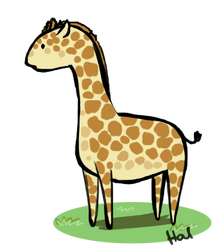 Commission Example: Giraffe by exiled-embers