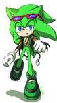 Scourge the hedgehog with evil