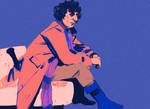 Fourth Doctor, coloring experiment no. 2