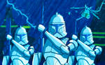 Kamino Clone Army Sketch Card