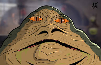 Jabba Sketch Card by DarkSunProductions