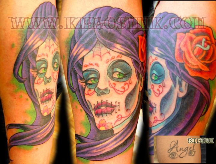 Dia De Los Muertos Cover up by SpikeJones67
