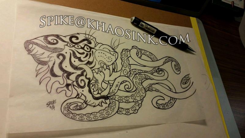 Tiger Sketch by SpikeJones67