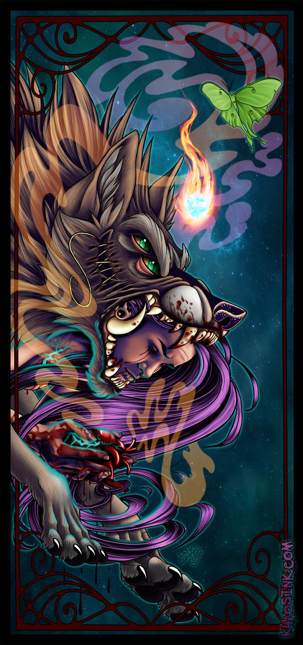 (A)Lone Wolf (Self Portrait) by SpikeJones67