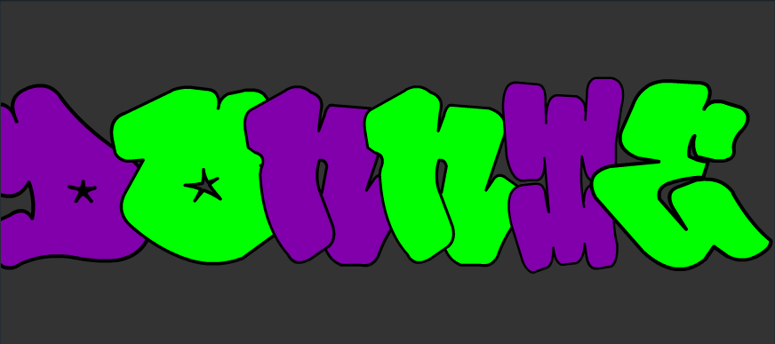 TMNT Bubble Letters Donnie by Ilovephineas on DeviantArt
