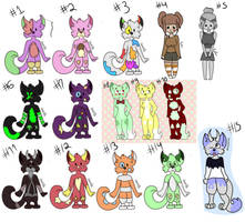 Cheap Leftover Adopts ! (SALE SET PRICE) (OPEN) by galaxycrown
