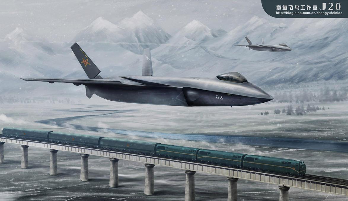 china F-20 leap bomb train by huihui1979