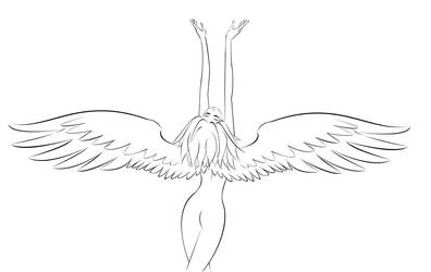 Love, Faith, and Hope Lineart by TwinAlchemist