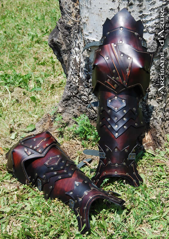 Zombie articulated greaves by ArtisansdAzure