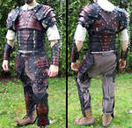 Full leather armor with slats